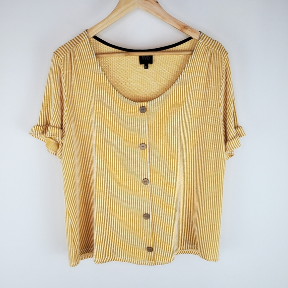 W5 XL yellow blouse *Anthropologie guest brand*